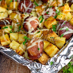 Kielbasa Potato Bake