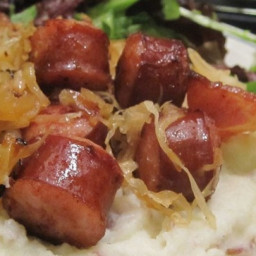 Kielbasa Sausage with Spiced Sauerkraut