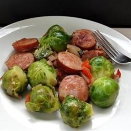 Kielbasa with Brussels Sprouts