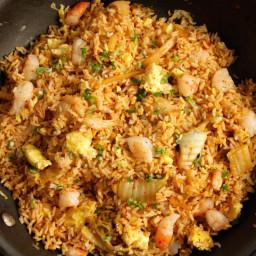 Kimchi and Shrimp Fried Rice