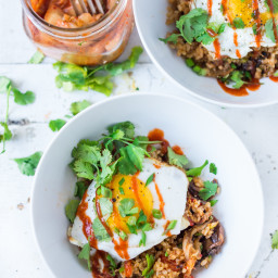 Kimchi Fried Rice with Eggs
