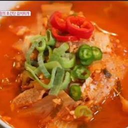 Kimchi Jjigae Stew (Baek Jong Won)