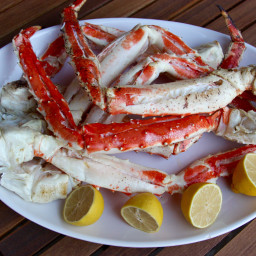 King Crab Legs Brushed with Lemon Vermouth Butter