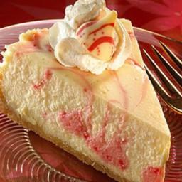 KISSES Candy Cane Swirl Cheesecake
