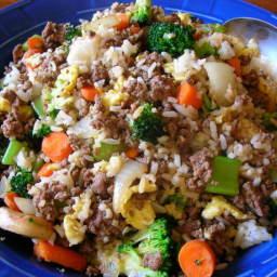 Kittencal's Ground Beef Fried Rice