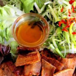 Korean BBQ Pork Belly with Scallion Salad