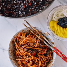Korean Black Bean Noodles (Jajangmyeon)