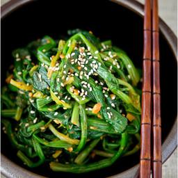 Korean Rustic Spinach Namul