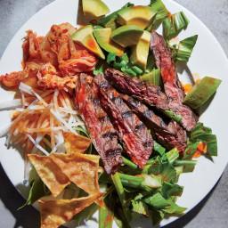 Korean-Style Skirt Steak Salad
