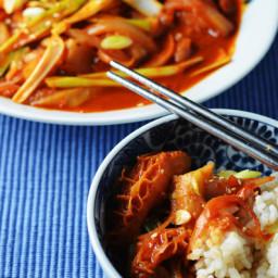 Korean-style Tripe #SundaySupper