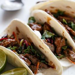 Korean Bulgogi Bbq Beef Tacos