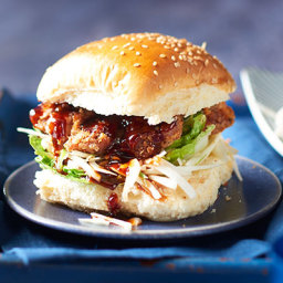Korean fried chicken burgers