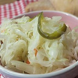 Krautsalat mit gekochter Marinade