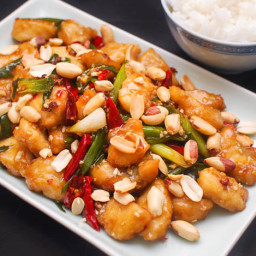 Kung Pao Fish With Dried Chilies and Sichuan Peppercorns