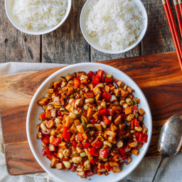 Kung Pao Mushrooms (Vegan!)