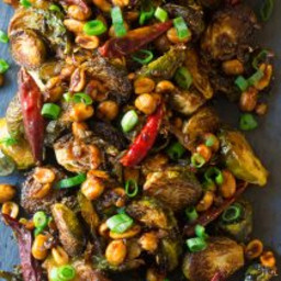Kung Pao Roasted Brussels Sprouts