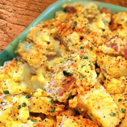 BBQ Cheddar Cheese and Potato Salad
