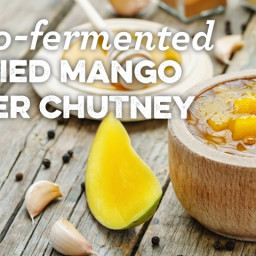 Lacto-fermented Curried Mango Ginger Chutney