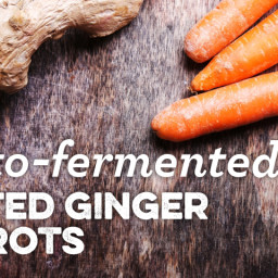 Lacto-Fermented Grated Ginger Carrots