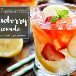 Lacto-Fermented Strawberry Lemonade