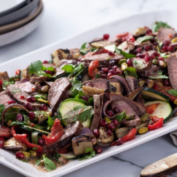 Lamb and ratatouille salad