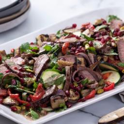 Lamb and ratatouille salad