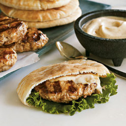 Lamb and Turkey Pita Burgers