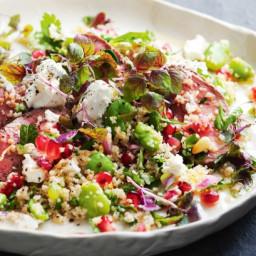 Lamb, burghul and pomegranate salad