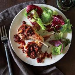 Lamb Chops with Fresh Fig Pan Sauce