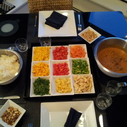 Lamb curry with rougaille