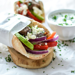 Lamb Gyros with Spicy Tzatziki