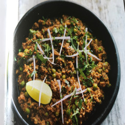 Lamb: keema mutter (lamb with peas)