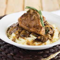 Lamb Loin Chops with Mushroom Marsala Sauce
