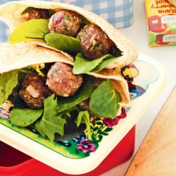 Lamb meatball and yoghurt pita pockets