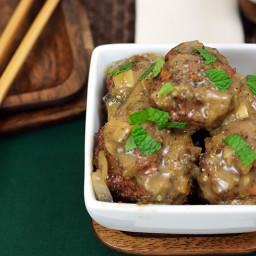 Lamb Meatballs and Mushroom Sauce