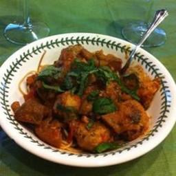 Lamb Meatballs in Spicy Eggplant Tomato Sauce