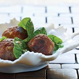 Lamb Meatballs with Spinach Salad