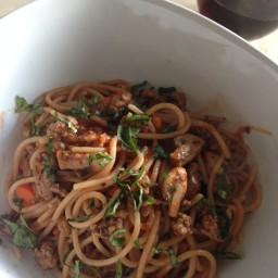 Lamb & Mushroom Spaghetti