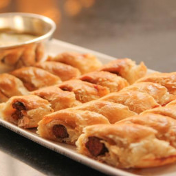 Lamb Sausage in Puff Pastry