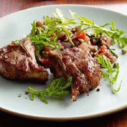 Lamb Chops with Eggplant Caponata
