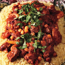 Lamb Tagine with Chickpeas and Apricots