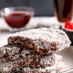 Lamington French Toast with Raspberry Jam Syrup
