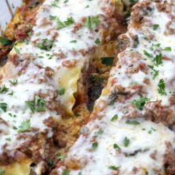 Lasagna Roll-Ups with Hidden Veggie Meat Sauce
