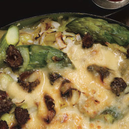 Lasagna with Asparagus, Leeks, and Morels