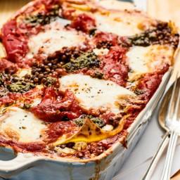 Lasagne med paprika och linser