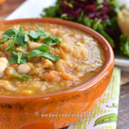 Late Fall Red Lentil Soup
