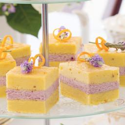 Lavender-Orange Cake with Blackberry Cream