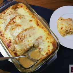 Layered Chicken enchiladas (Pastel Azteca)
