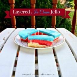 Layered Ice Cream Jello