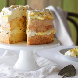Layered Passionfruit Curd Sponge Cake